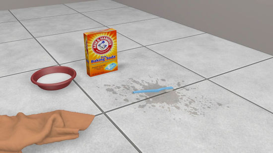 How should you clean your tile floor?